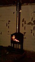 теплота в доме , монтаж дымоходов для твердотопливных котлов, камины монтаж, наши работы  32