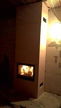 теплота в доме , монтаж дымоходов для твердотопливных котлов, камины монтаж, наши работы  35