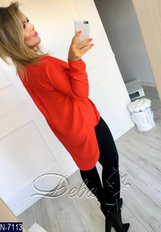 ee459fa5ee90 Женская асимметричная весенне-осенняя блузка с декольте+фурнитура серебро  (креп шифон) 2