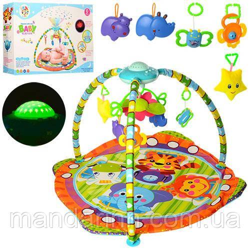 Развивающий коврик для младенца с проектором PY603