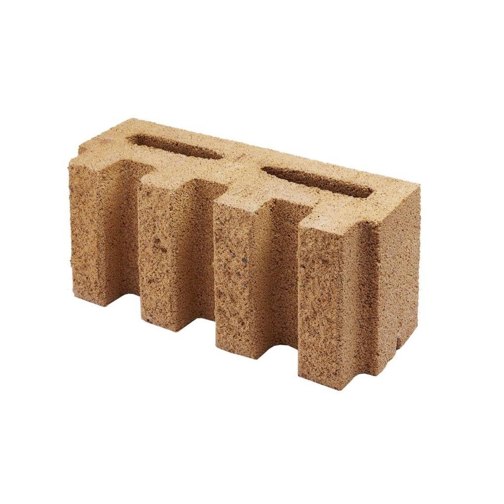 Блок заборный декоративный канелюрный Силта Брик 390*190*140