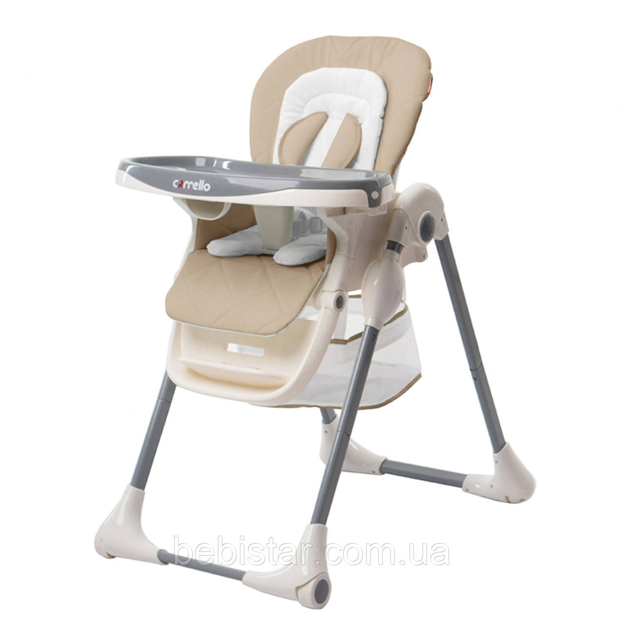Стульчик для кормления бежевый CARRELLO Toffee CRL-9502/1 Desert Beige деткам от 6 месяцев до 3 лет