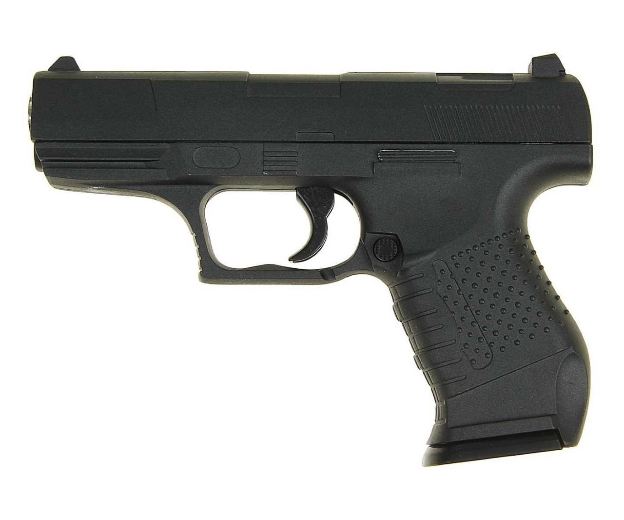 Пистолет метал.пластик G.19 с пульками