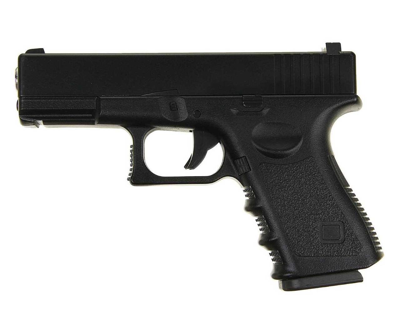 Пистолет метал.пластик G.15+ с пульками,кобурой