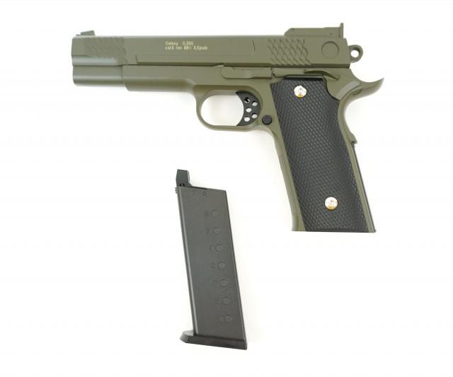 Игрушечный страйкбольный пистолет Galaxy G.20G Browning HP Браунинг ХП зеленый