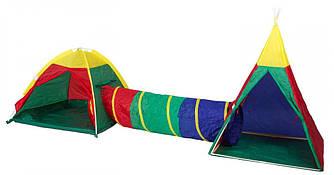 Детская палатка Iplay 3 в 1 с вигвамом