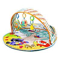 Детский развивающий коврик-манеж с цветными шариками 023-41