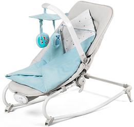 Кресло-качалка Kinderkraft FELIO 2в1 голубое