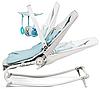 Кресло-качалка Kinderkraft FELIO 2в1 голубое, фото 2