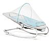 Кресло-качалка Kinderkraft FELIO 2в1 голубое, фото 3