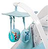 Кресло-качалка Kinderkraft FELIO 2в1 голубое, фото 5