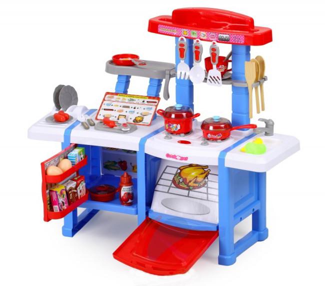 Детская кухня с холодильником и духовкой Cook Set (Синяя)