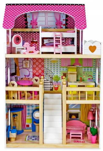 3-х этажный деревянный домик для кукол Sapphire SK-02
