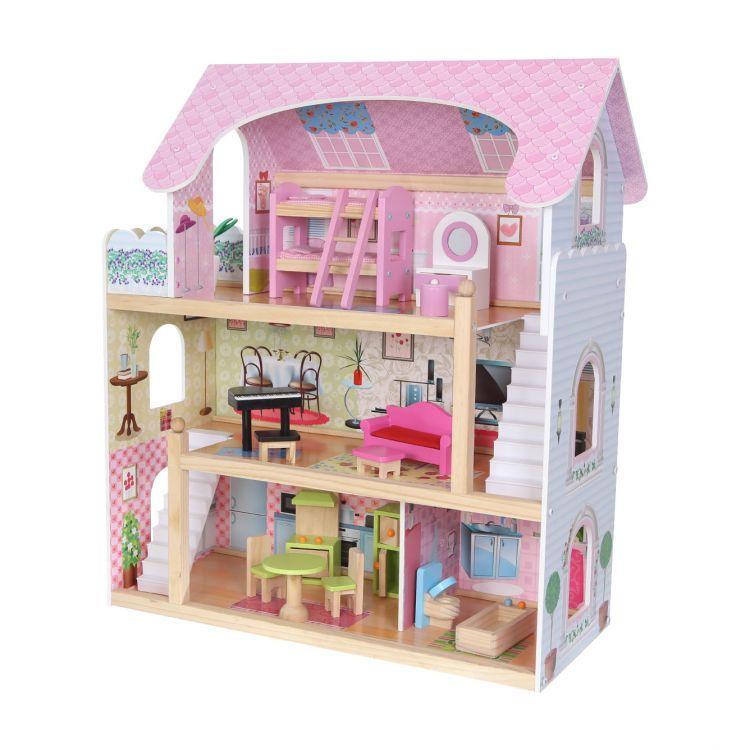 Детский деревянный домик для кукол Ecotoys