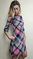 Женское платье трапеция с карманами П224