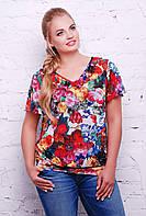 "Блуза с рукавом ""крылышко"" LILIA красная, фото 1"