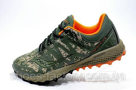 Кроссовки для бега в стиле Saucony Peregrine 7 Arctic, Khaki\Green, фото 2