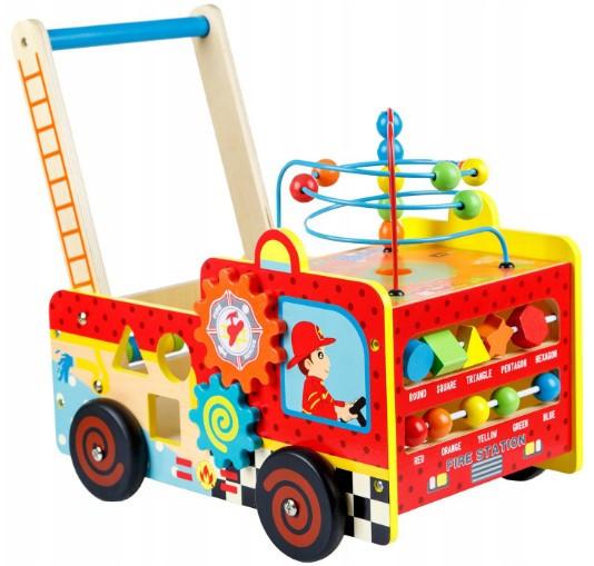 Деревянные развивающие ходунки Doris Пожарная машина и сортер