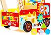 Деревянные развивающие ходунки Doris Пожарная машина и сортер, фото 5