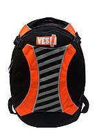 """Рюкзак молодёжный """"YES!"""" 551878 чёрно-оранжевый"""