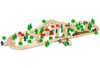 Деревянная железная дорога Eichhorn 100 елементов