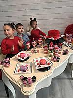 Набор посуды небьющейся для детского праздника детского дня рождения выпускного утренника CFP 11шт/1пер , фото 1
