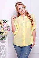 Рубашка с кружевом МИЛА желтая, фото 1