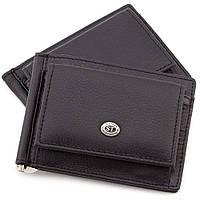 Зажим для денег мужской кожаный ST315 Black