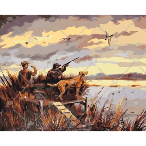 Картина по номерам Охота на уток KHO2252 Идейка