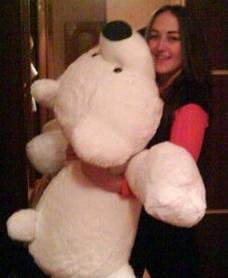 """М'яка іграшка """"Ведмедик"""" великий 125 см"""