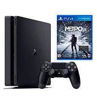 Ігрова приставка Sony PlayStation 4 Slim 500Gb Black + Metro Exodus (Sony PS4 Slim 500Tb + Metro Exodus)