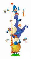 Наклейка бумажная с рисунком, декоративная, Ростомер Маленький рыцарь +15 наклеек