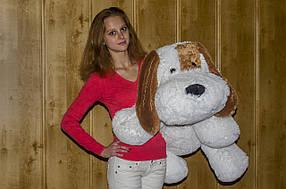 """Велика плюшева собака """"Тобик"""" 100 см"""