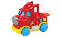 Машинка со световыми и звуковыми эффектами, Красный грузовик