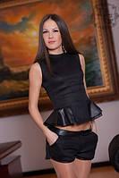 Женский костюм кофта с баской и шорты
