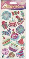 Наклейки блестящие День рождения. Mota, набор №2