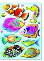 Объемные наклейки Рыбки. Mota, с морским коньком