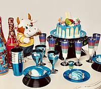 Стаканы одноразовые плотные, цветные для детского праздника, дня рождения, кенди бара CFP 6 шт 220 мл, фото 1