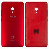 Задняя панель корпуса для смартфона Asus A502CG Zenfone 5 Lite, красная