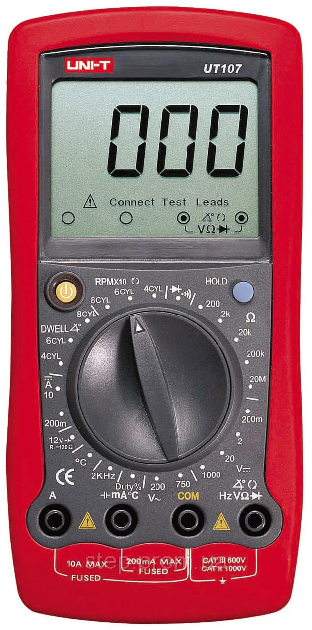 Мультиметр UNIT UTM 1107 (UT107), цифровой, карманный