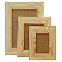 Рамка деревянная с брашированием 10х15см, шир. 5см, без стекла, для картин и др.