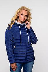 Женская весенняя куртка большого размера Адриен  Nui Very (Нью вери) синий