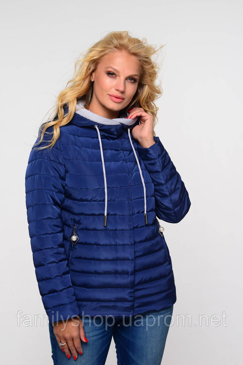 Женская осенняя куртка большого размера Адриен  Nui Very (Нью вери) синий