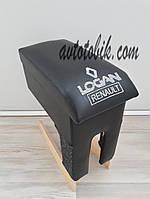 Подлокотник Renault Logan Maxi черный с вышивкой