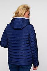 Женская весенняя куртка большого размера Адриен  Nui Very (Нью вери) синий, фото 2