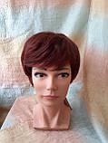 Парик из натуральных волос красно-медный NICOLE HH - 33А, фото 4