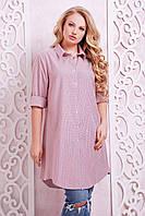 Платье-рубашка в клетку ЛОРЕНС розовое, фото 1