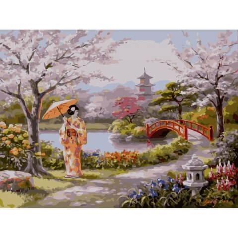Картина по номерам Нарисованный рай KHO2810 Идейка