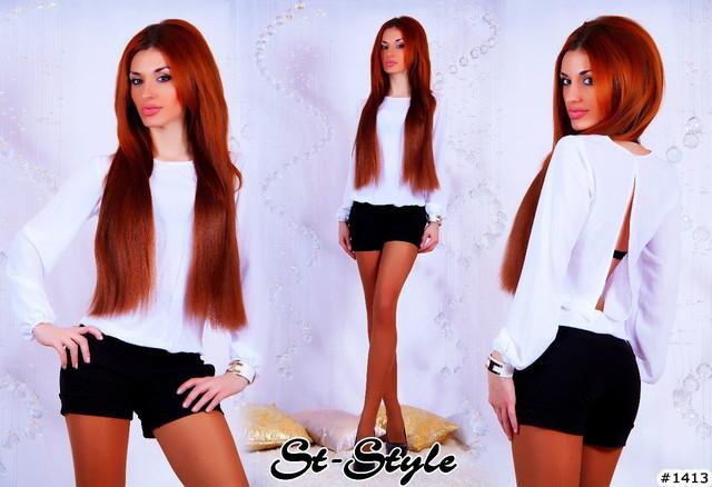 женский комбинезон шортами с вырезом на спине