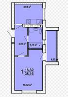 Продам однокомнатную квартиру в новострое от собственника в Харькове, Жилстрой-1, дом сдан